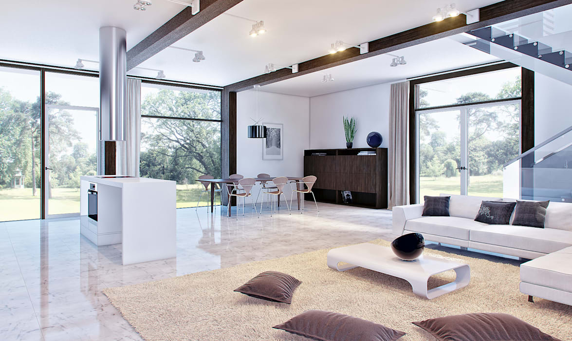 clear-house Modern living room