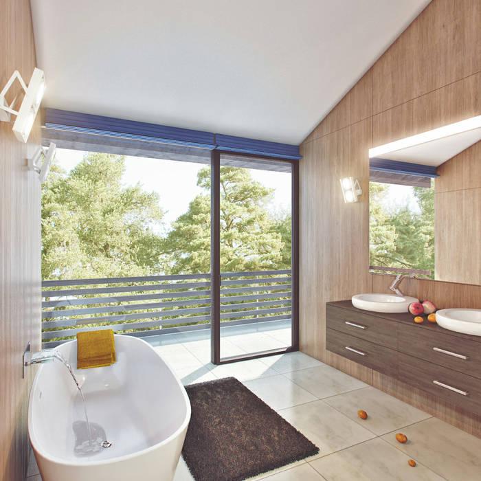 Современный фахверк Ванная комната в стиле модерн от clear-house Модерн