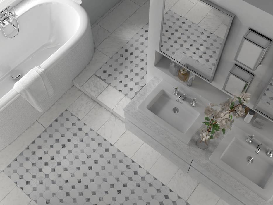 Le motif du sol en mosaïque de marbre : salle de bain de style par ...