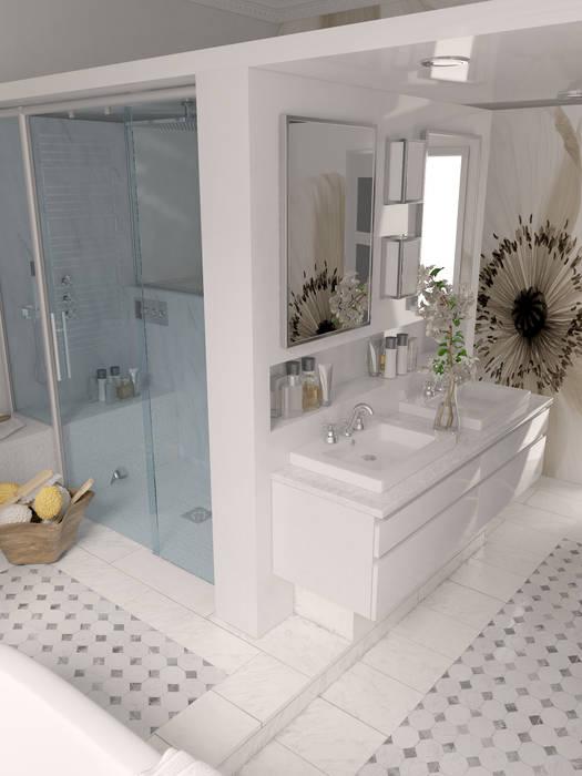 Douche Style Hammam douche hammam et meuble vasques: salle de bain de style de style