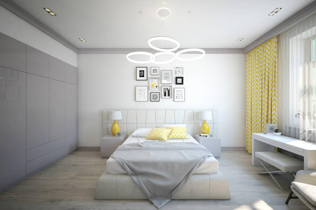 Dormitorios de estilo  de First Class Interior, Minimalista