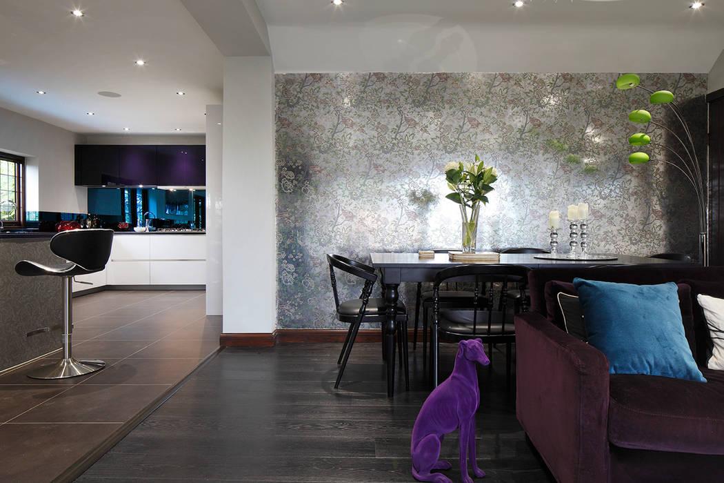 dining room Quirke McNamara Comedores de estilo ecléctico Metálico/Plateado
