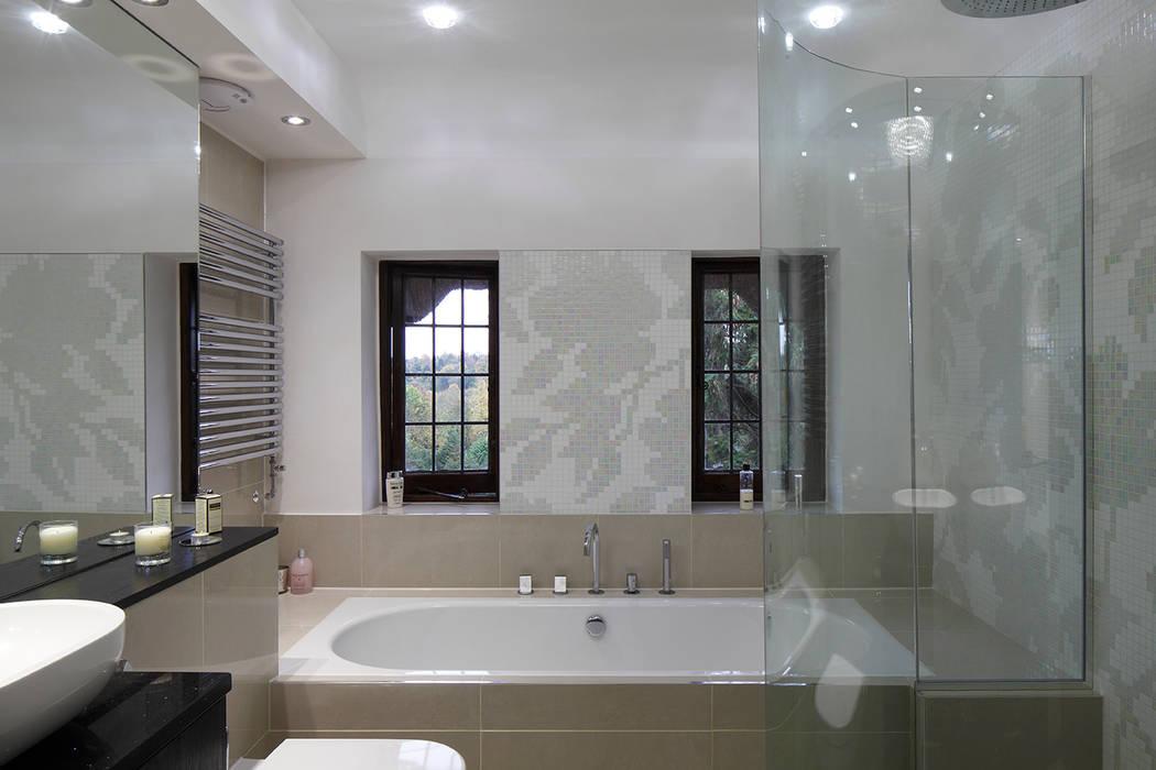 Luxury Modern Cottage Buckinghamshire Quirke McNamara Classic style bathrooms Beige