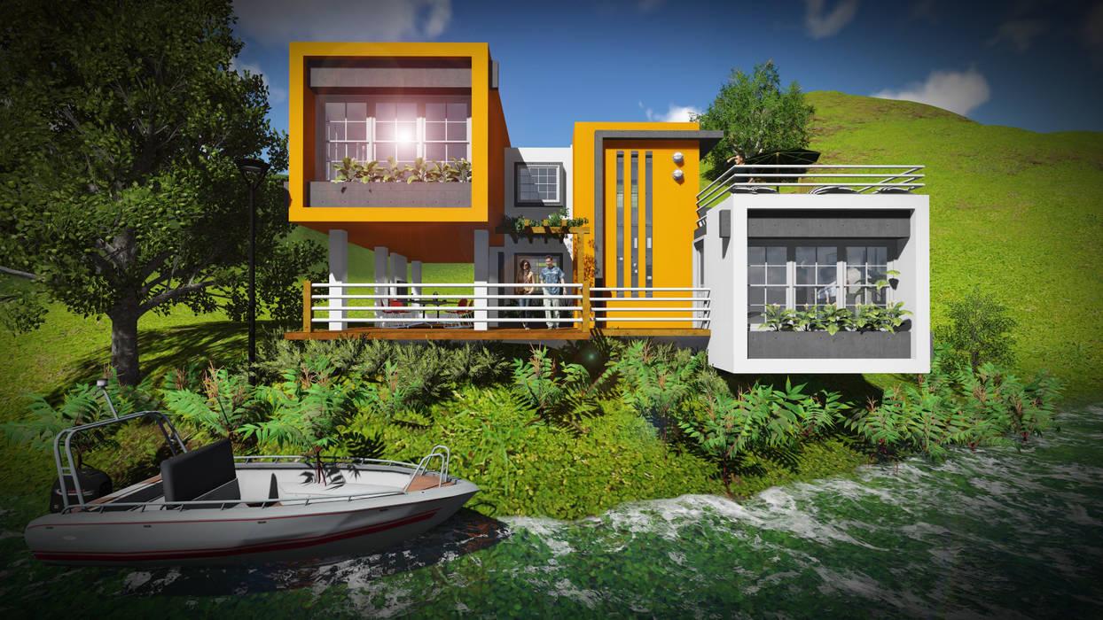 Volumen Casas de estilo minimalista de John J. Rivera Arquitecto Minimalista