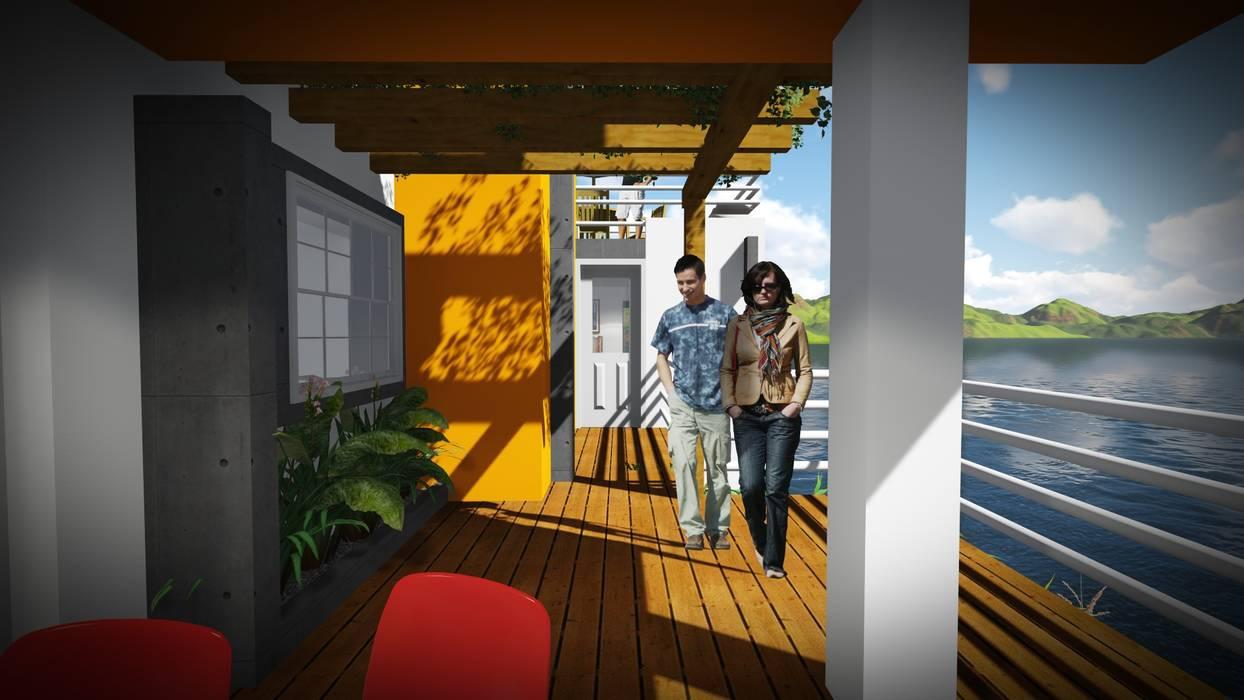 Disfrute de la Naturaleza: Casas de estilo  por John J. Rivera Arquitecto