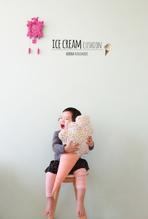 레인보우 소프트 아이스크림 쿠션 : hihiha 의  아이 방