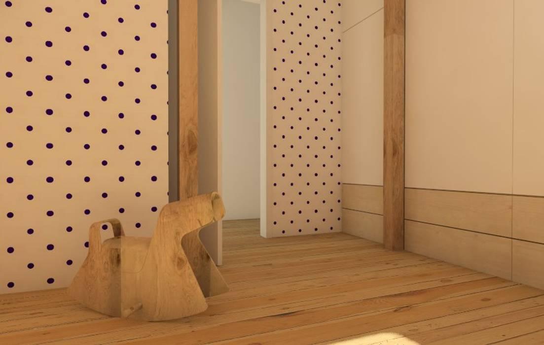 Poddasze dla rodziny. : styl , w kategorii Pokój dziecięcy zaprojektowany przez Sic! Zuzanna Dziurawiec,Nowoczesny Drewno O efekcie drewna