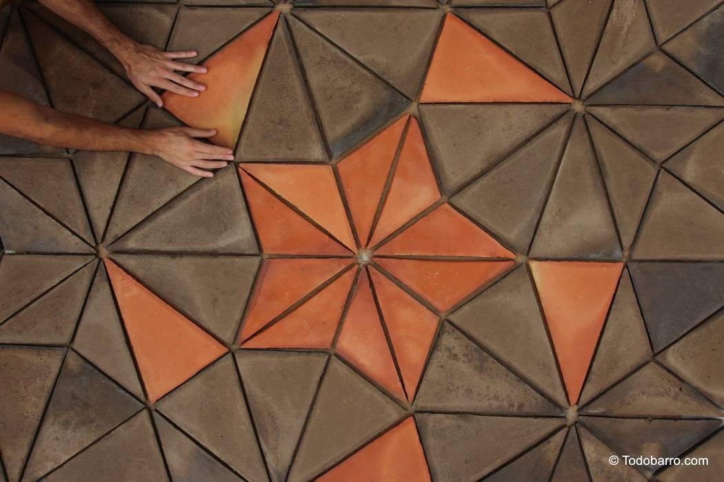 Suelo cerámico de Penrose (pizarra-rojizo 01) de Todobarro Moderno Cerámico
