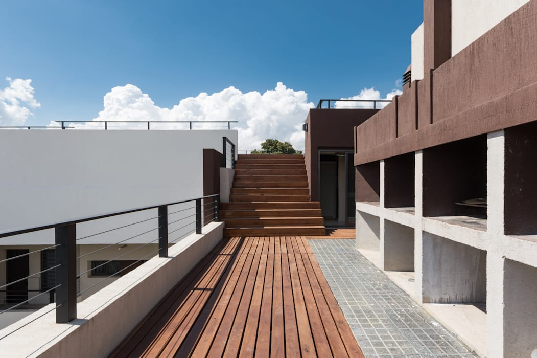 SECTOR ASADORES Balcones y terrazas modernos: Ideas, imágenes y decoración de CELOIRA CALDERON ARQUITECTOS Moderno