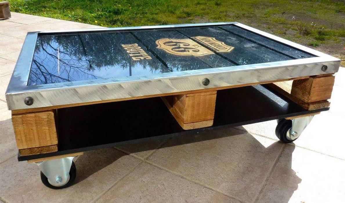Industriel Table Basse Palette de estilo industrial por 2nd chance créations, industrial