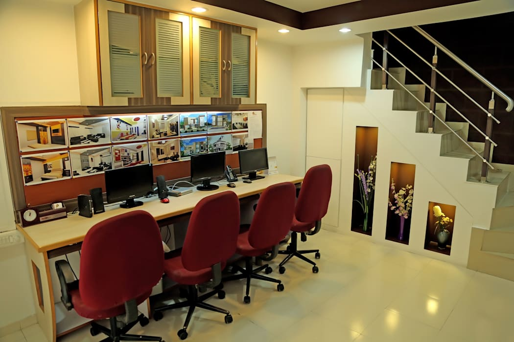 Working Desk Modern study/office by ZEAL Arch Designs Modern