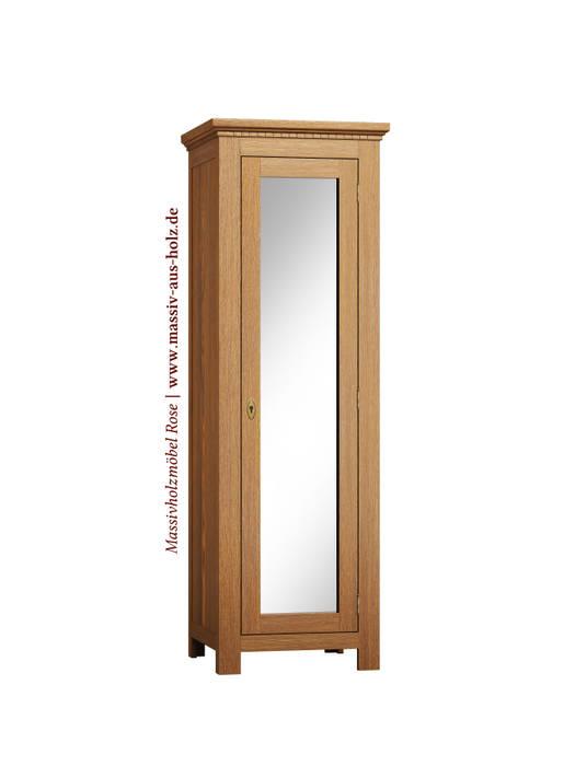 Dielenschrank Mit Spiegel Von Massiv Aus Holz Klassisch