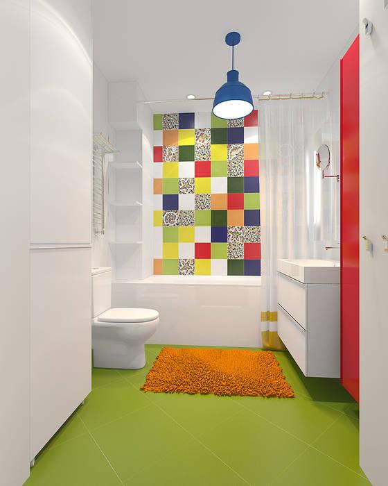 ЖК Крылов: Ванные комнаты в . Автор – TrioDesign, Эклектичный