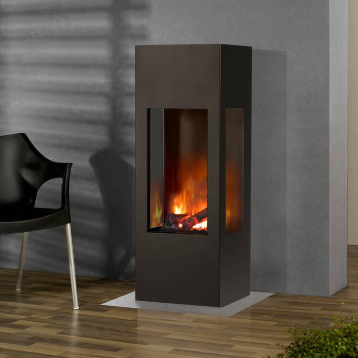 Prism Fire:  Wohnzimmer von muenkel design - Elektrokamine aus Großentaft