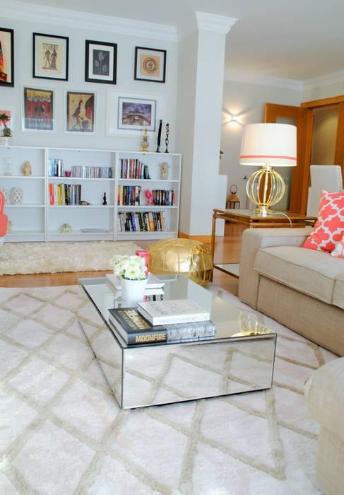 Modern Living Room by White Glam Modern