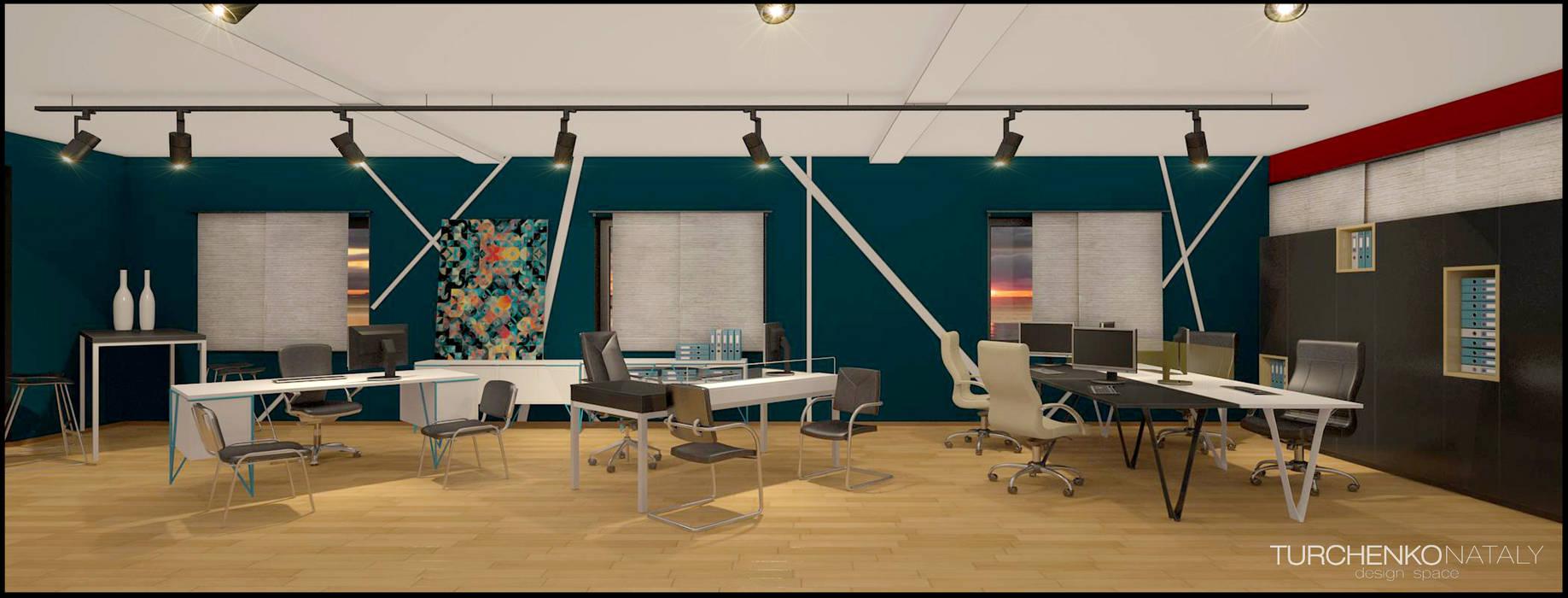 Шоурум магазина офисной мебели ЮНИТЕКС на Шоссе Энтузиастов: Офисы и магазины в . Автор – TUR4ENKONATALY design space, Модерн