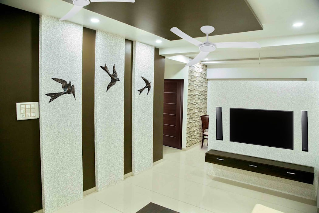 Living room - Wall art Modern living room by ZEAL Arch Designs Modern