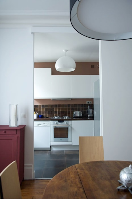Cuisine Ikea Blanc/marron: Cuisine De Style Par Agence KP