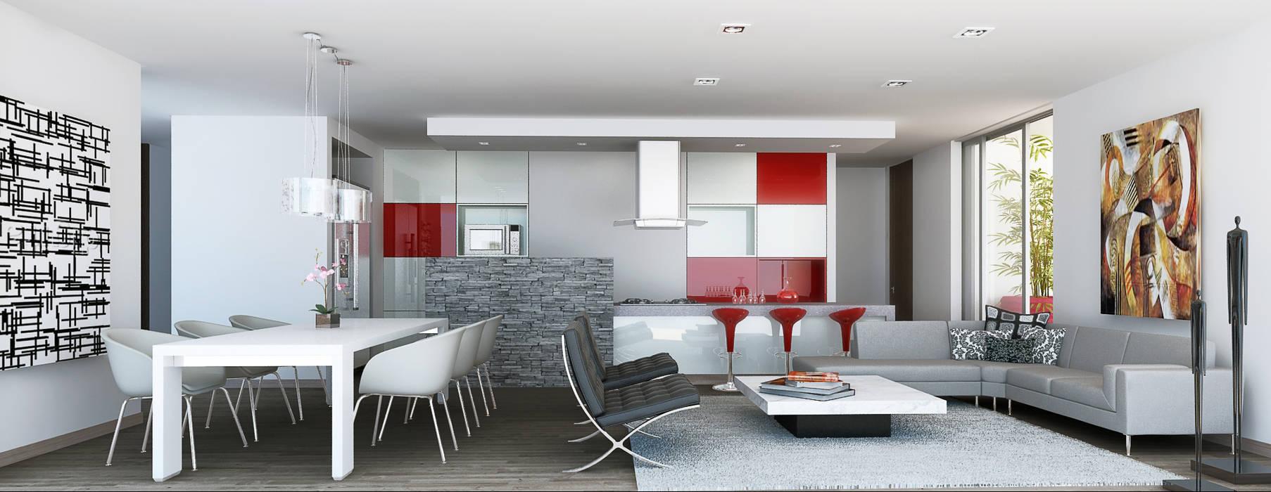 Departamento modelo Casas de estilo minimalista de MIES GROUP Minimalista