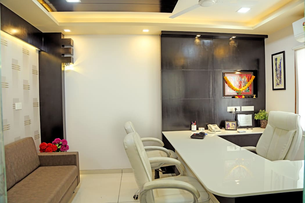 Director Cabin Modern offices & stores by ZEAL Arch Designs Modern