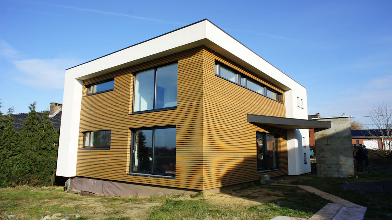 Façades SE et SO Bureau d'Architectes Desmedt Purnelle Murs & Sols modernes