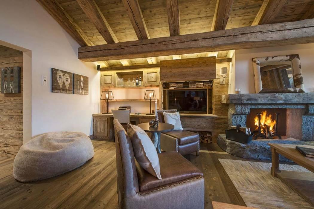 Interior: Comedores de estilo  de Construcciones F. Rivaz,