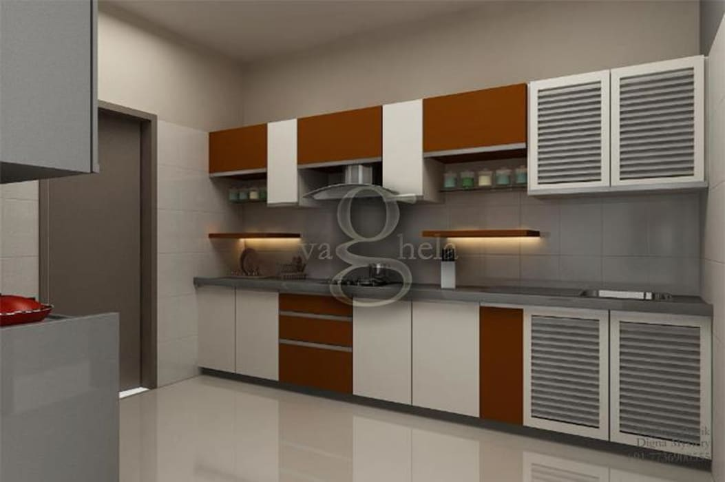 Kitchen Vaghela interiors KitchenCabinets & shelves