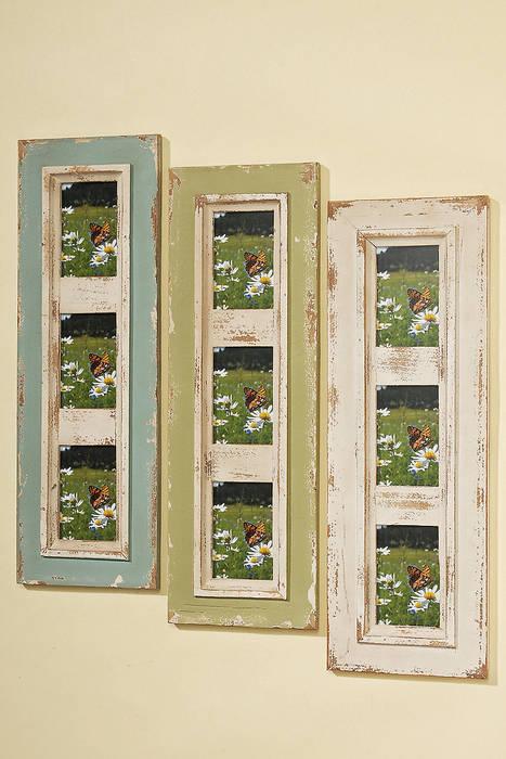 Bilderrahmen Nizza Aus Holz Für 3 10x15 Fotos: Mediterrane Wohnzimmer Von  Mediwo.de
