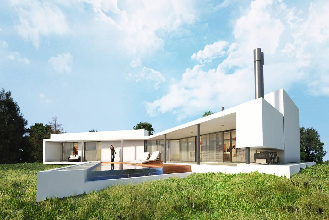 Vivienda SchV : Casas de estilo  por síncresis arquitectos