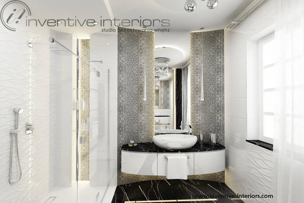 Srebrna Mozaika W łazience Styl W Kategorii łazienka