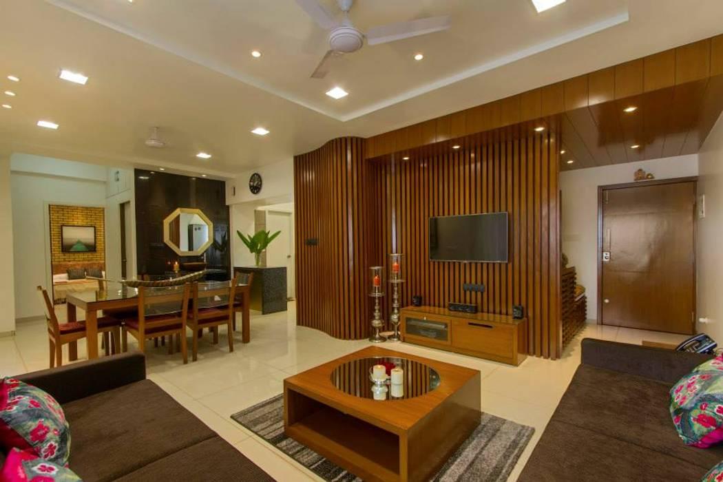 Abhiskhek's Appartment P & D Associates Modern living room
