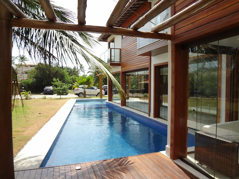 Rustic style house by Tupinanquim Arquitetura Brasilis Rustic