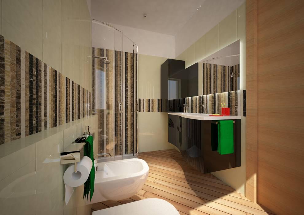 CASA L&A: Bagno in stile in stile Moderno di Architetto  Libero Professionista