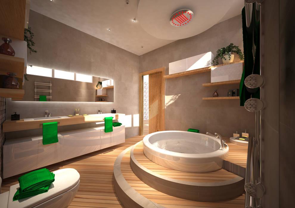 CASA L&A: Spa in stile in stile Moderno di Architetto  Libero Professionista