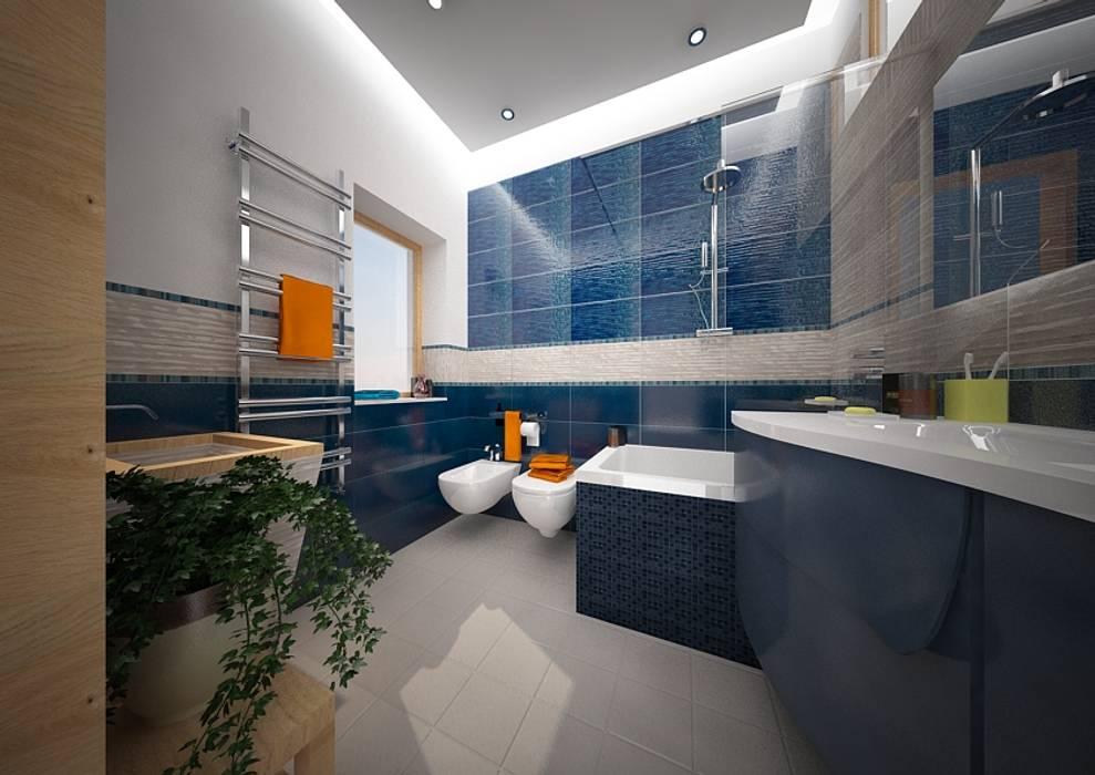CASA G&P: Bagno in stile in stile Moderno di Architetto  Libero Professionista