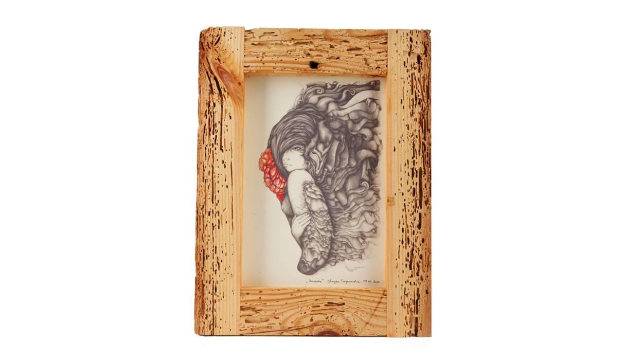 UPCYCLING FRAME AND GRAFIK III Altavola Design Sp. z o.o. ArtworkPictures & paintings Wood