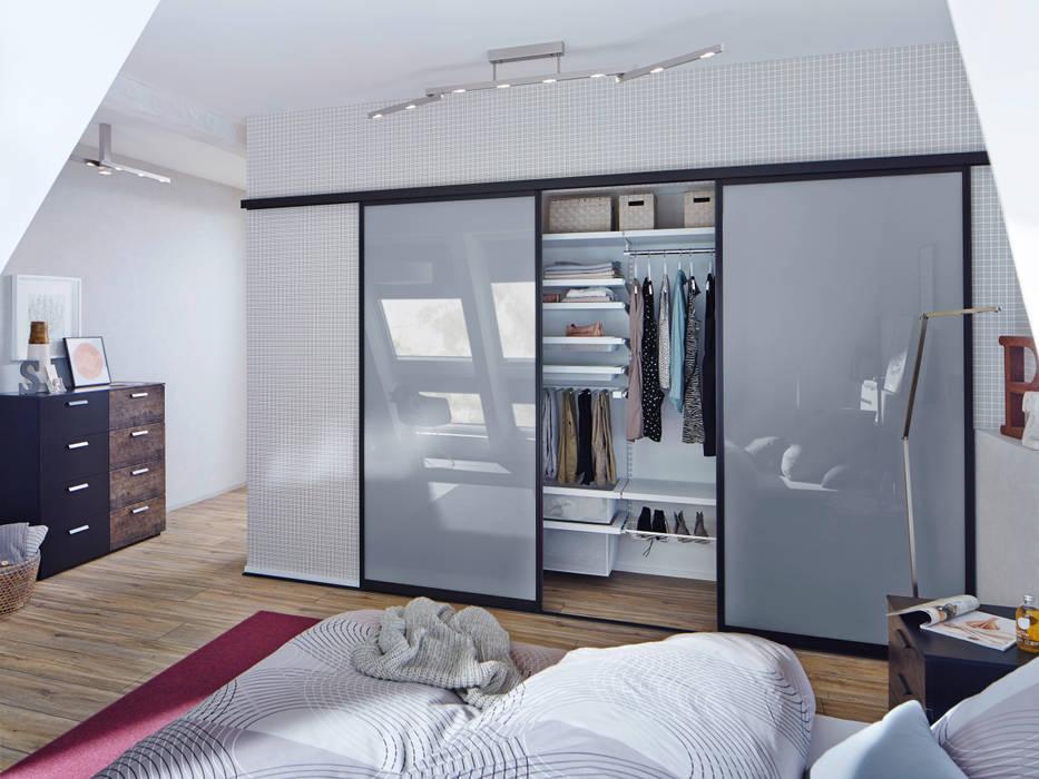 Dormitorios de estilo  por Elfa Deutschland GmbH, Moderno Vidrio