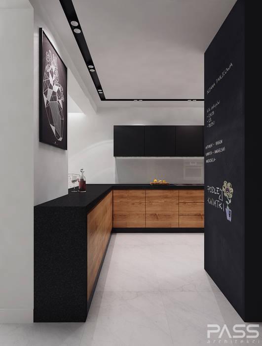 Projekt wnętrza w Warszawie /1: styl , w kategorii Kuchnia zaprojektowany przez PASS architekci,Nowoczesny