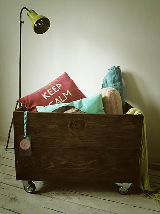 Toy Box od Treefabric Skandynawski Drewno O efekcie drewna