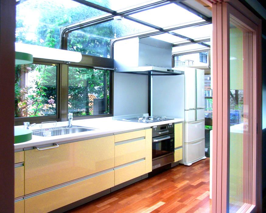 既存の温室を明るいキッチンに モダンな キッチン の ユミラ建築設計室 モダン