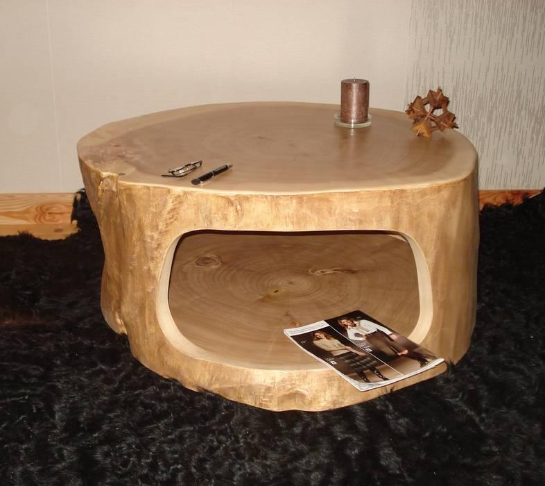 Baumstamm tisch ausgehöhlt: wohnzimmer von holzbau bohse, | homify