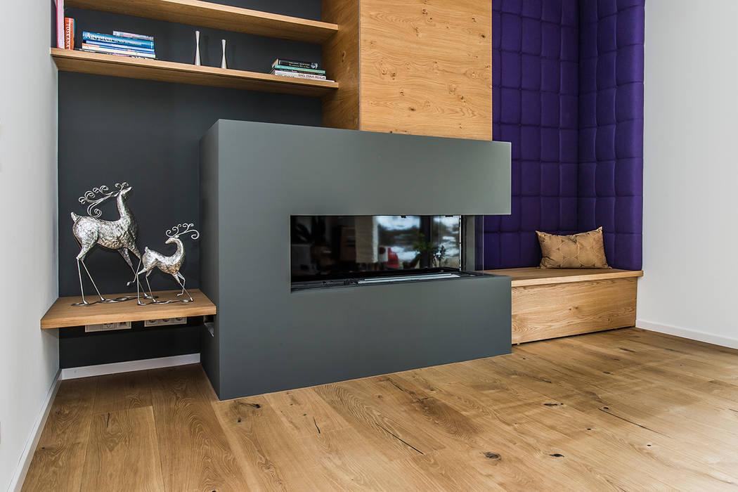 Wohnzimmer mit kamin moderne wohnzimmer von büro köthe ...