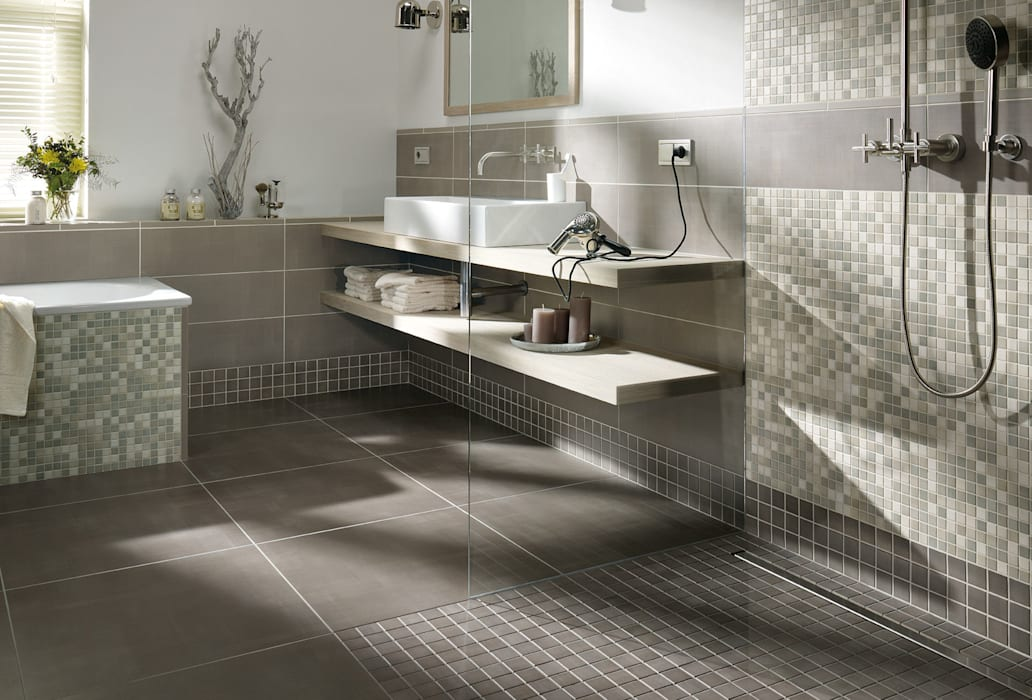 Anti Slip Mosaic Tiles:  Bathroom by The Mosaic Company