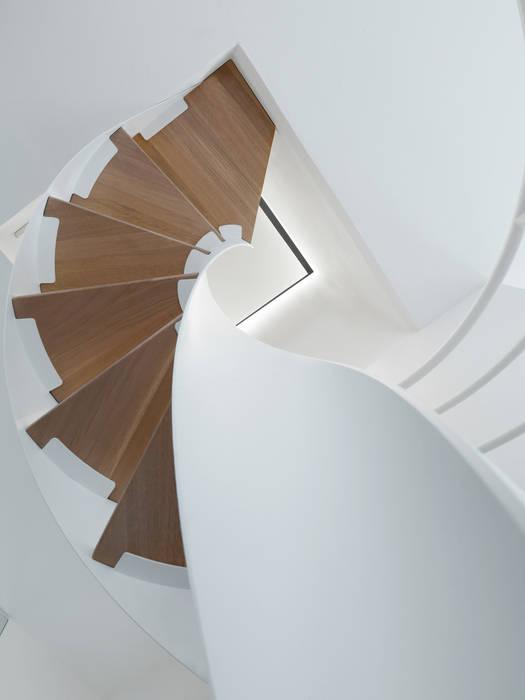 Scala elicoidale: Ingresso & Corridoio in stile  di NEARCH architecture & design