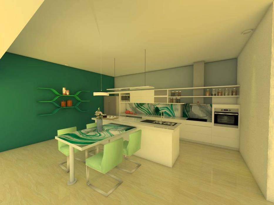 現代廚房設計點子、靈感&圖片 根據 ER Design. @eugeriveraERdesign 現代風 玻璃