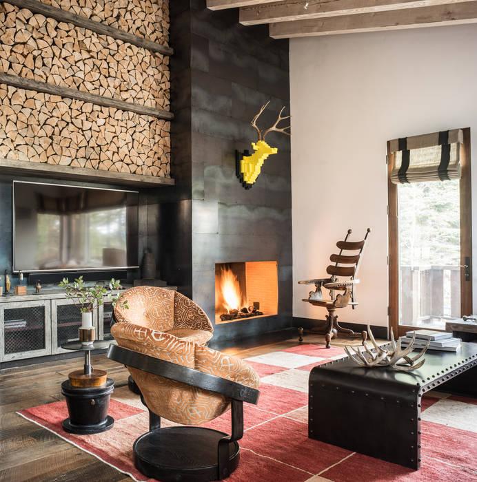 Truckee Residence Salas de estilo ecléctico de Antonio Martins Interior Design Inc Ecléctico