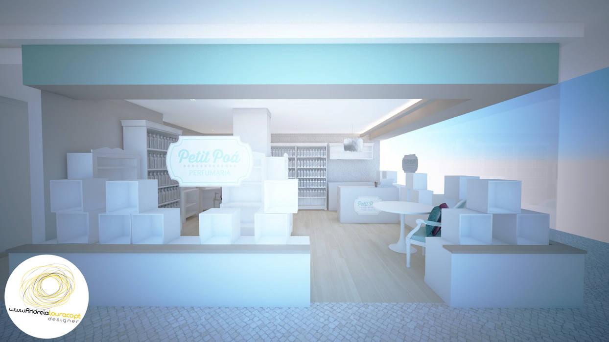 Vista exterior: Lojas e espaços comerciais  por Andreia Louraço - Designer de Interiores (Contacto: atelier.andreialouraco@gmail.com)