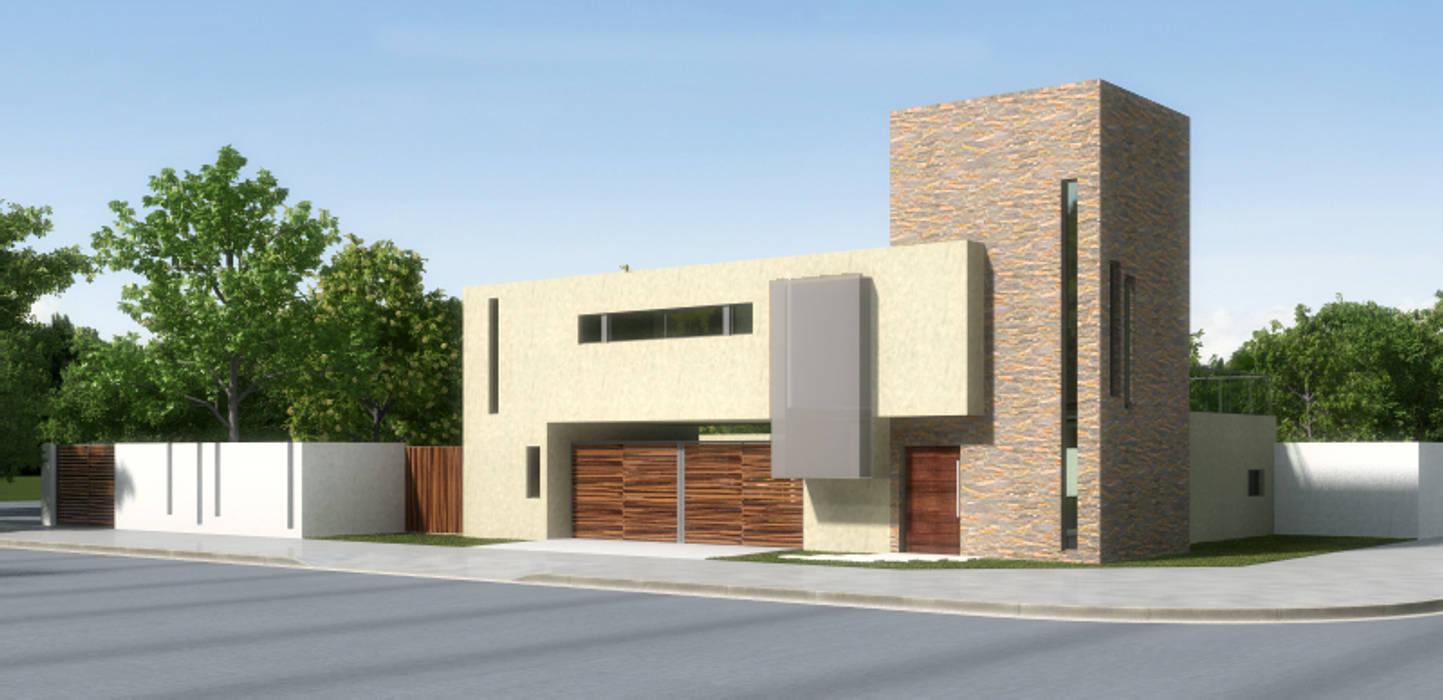 PROYECTO Y DIRECCIÓN TECNICA - VIVIENDA UNIFAMILIAR: Casas de estilo  por E-PROYECT,Moderno