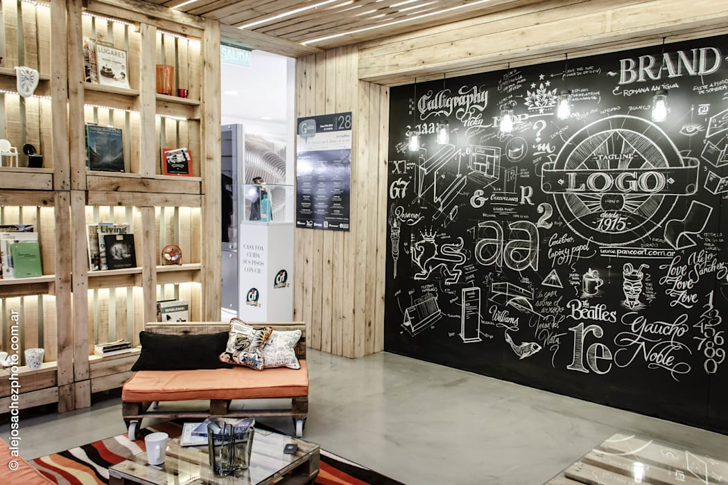 Study/office by G7 Grupo Creativo, Industrial Wood Wood effect