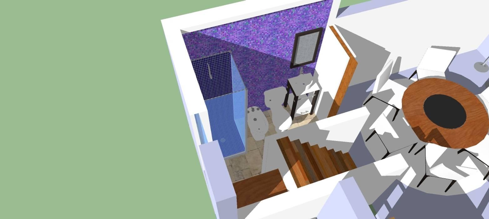 Ba o bajo escalera ba os de estilo moderno por for Bano debajo escalera diseno